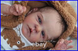 Magnolia Dream Doll Reborn baby boy Roux by Cassie Brace 18'' LE COA