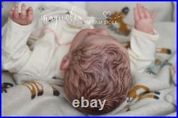Magnolia Dream Doll Reborn baby girl Elise by Karola Wegerich 19'' LE COA