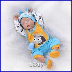 New 22'' Handmade Lifelike Baby Silicone Vinyl Reborn Newborn Boy Dolls+Clothes
