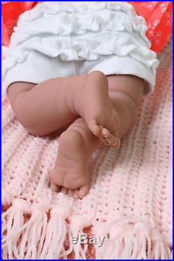 New Baby Girl Smiling Doll Real Reborn Berenguer 15 Inch Vinyl Life Like Alive