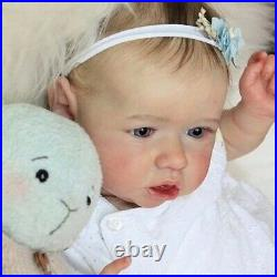 New Born Lifelike Reborn Full Silicone Body Girl Baby doll 23'' Vinyl Realistic
