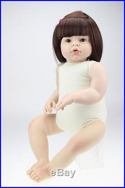 New Handmade Vinyl Silicone Arianna Reborn Baby dolls Lifelike Doll Toys Gift 01