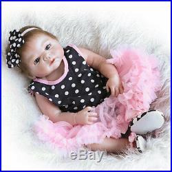 Newborn Handmade 23 Reborn Baby Doll Full Body Silicone Vinyl Girl Xmas Gift