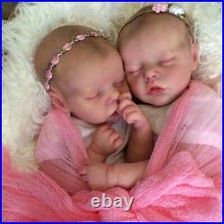 Newborn Lifelike Baby Dolls Twin Baby 17 Reborn Vinyl Twin Real Life