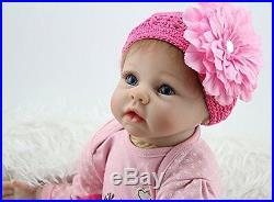 Npkdoll Lifelike Realistic Cute Soft Vinyl Silicone Reborn Baby Girl Doll 22