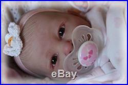 PRECIOUS BABAN CUSTOM ORDER PREEMIE REBORN BERENGUER BABY DOLL &TUMMY PLATE (3)