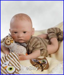 Paradise Galleries HOOT! HOOT! Newborn Realistic Handmade Boy Reborn Baby Doll