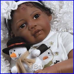 Paradise Galleries Kione AA African American Ethnic Lifelike Reborn Baby Doll