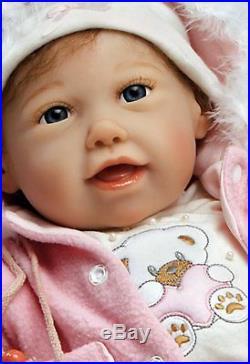 Paradise Galleries Realistic Handmade Reborn Baby Doll Newborn Cuddle Bear Bella