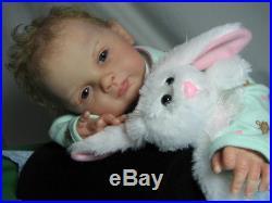 Ping Lau Sabrina Rose Reborn Baby Girl Doll 20 Tall 3/4 Vinyl Torso Beverlys