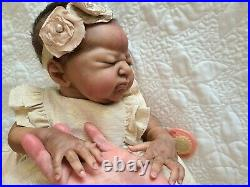 Pre owned, Rare, Ethnic Reborn Doll Everleigh by Laura Lee Eagles