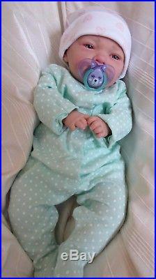 Pretty Reborn Baby Girl Doll with open eyes by #RebornBabyDollArtUK