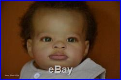 Prototype ethnic reborn doll Lanny baby boy biracial art by Anna Sheva lIORA