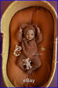 Prototype reborn baby doll Nala ethnic lifelike biracial art by Anna Sheva lIORA