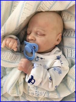 Realborn Thomas Asleep Reborn Doll Baby Boy True Newborn Size 17 Cherish Dolls