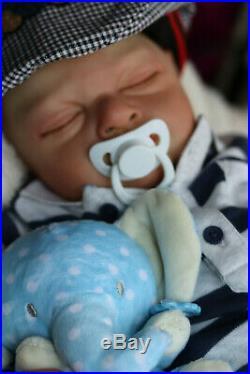 REALISTIC TODDLER DOLL REBORN BIG 9Lbs 8oz BOY BOUNTIFUL BABY ZACK BY MARIE GHSP