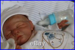 REBORN BABY BOY DOLL 14 PREMATURE BY ARTIST OF 9yrs MARIE AT SUNBEAMBABIES GHSP