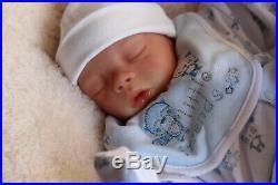 REBORN BABY DOLL PREEMIE 16 PREMATURE CODY BY ARTIST OF 9yrs SUNBEAMBABIES GHSP