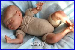 REBORN BABY DOLL PREEMIE ROSEBUD 14 PREMATURE BY ARTIST OF 9yrs SUNBEAMBABIES