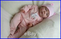 REBORN BABY GIRL DOLL, Beautiful Vicky 18 newborn by UK Artist BabyDollArtUK