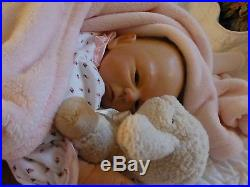 Reborn Vinyl Baby Girl Doll Louisa By Manuela Muth Little Dreams Collection