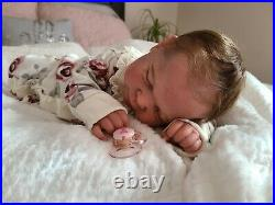 Rare, Sold Out, NEW! Reborn baby doll L. E. Ramsey by Cassie Brace with COA