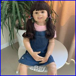 Real Life Reborn Toddler Big Dolls 39 inch Standing Reborn Baby Dolls Full Vinyl