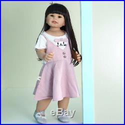 Real Size Toddler Reborn Baby Dolls 70CM Reborn Dolls Full Vinyl Real Size Child