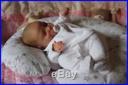 Realborn June Asleep A Beautiful Realborn Reborn Fake Baby Girl Doll Amber