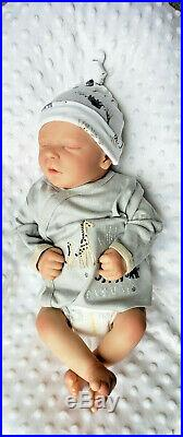 Realborn Reborn Baby Doll Darren asleep Preemie Bountiful Baby Free Ship