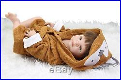 Realistic Baby Dolls Newborn Boys 23 Inch Full Silicone Vinyl Real Touch Reborn