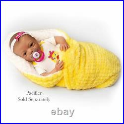 Realistic Baby Imani Kinby Doll with Bottle & Pacifier Ages 3+ Assembled in USA