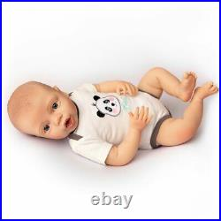 Realistic Baby Nathan Kinby Doll with Bottle & Pacifier Ages 3+ Assembled in USA