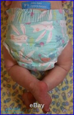 Realistic OOAK Realborn Reborn Rooted Baby Girl Doll by JolleyBabyRebornNursery