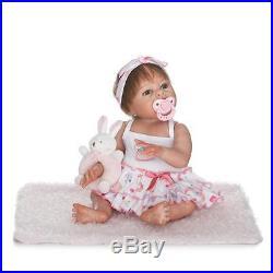 Realistic Reborn Full body Silicone Vinyl doll Girl baby Doll Lifelike 50cm/20