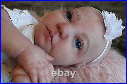 Realistic reborn baby girl doll Realborn June awake HOLD FOR KELLI SALE PENDING
