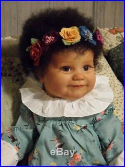 Reborn Art Doll MADDIE by Bonnie Brown Biracial Beauty COA