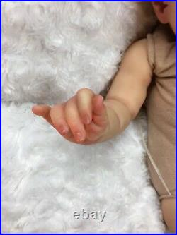 Reborn Baby Art Doll Authentic Reborn Ruby By Cassie Brace Micro Rooted