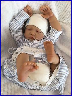 a2289ca81 Reborn Baby Boy Doll Noah Fake Babies Realistic Hand Painted 22 Big Newborn