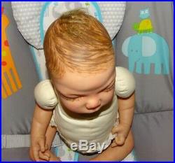 Reborn Baby Boy Doll Thomas by Huti Babies withCOA L. E. Of 250