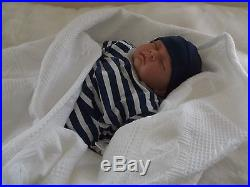 Reborn Baby Boy LUCAS BOS Realistic Fake Doll UK Artist Saxon Reborns