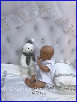 Reborn Baby Boy Maylin by Olga Auer Doll Art LTD EDIT with C. O. A. Stunning