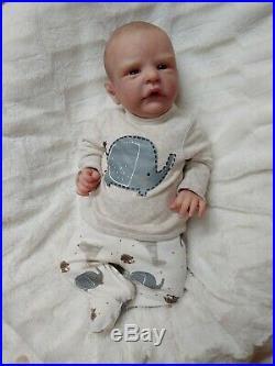Reborn Baby Boy Roux by Cassie Brace Limited Edition Lifelike Newborn Doll