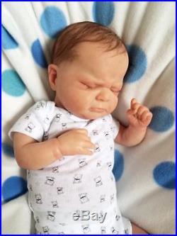 Reborn Baby Boy Thomas By Olga Auer Very Realistic Lifelike Doll Preemie with COA