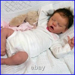 Reborn Baby Doll 17 Inches Lifelike Newborn Sleeping Eye-Closed Baby Vinyl Doll