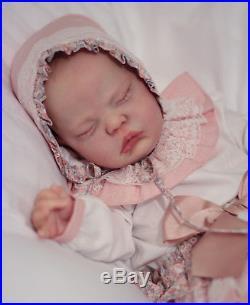 Reborn Baby Doll Baby Girl Evelyn by Cassie Brace