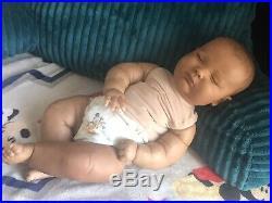 Reborn Baby Doll Ethnic Aa Biracial Girl Or Boy Joseph Asleep 3m