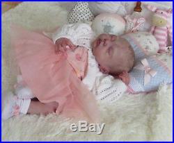 Reborn Baby Doll MOUSE asleep by Sylvia Manning stunning newborn, Ltd edition