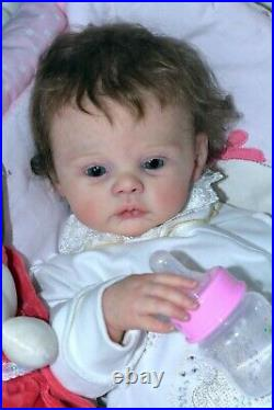 Reborn Baby Doll Meadow created from the limited set Meadow by Andrea Arcello