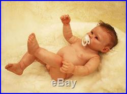Reborn Baby Doll Naked Boy 22 Handmade Newborn Full Body Vinyl Silicone Bath